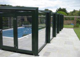 EasyGlide 3 Angle Telescopic Pool Enclosure Green