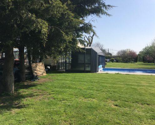 EasyGlide Telescopic Pool Enclosure Grey Craven 03