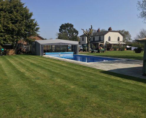 EasyGlide Telescopic Pool Enclosure Grey Craven 04