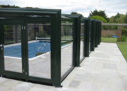 Easyglide 3 Angle Telescopic Pool Enclosure End Entry Doors