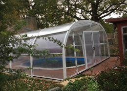 Freestanding Fixed Pool Enclosure installed by Swimex