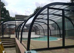 Galaxy Fixed Arched Pool Enclosure Exterior Grey 01