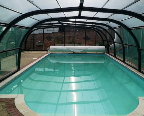 Galaxy Fixed Arched Pool Enclosure Interior Grey 01