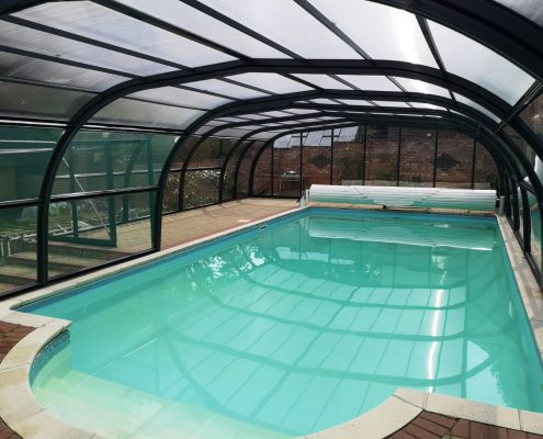 Galaxy Fixed Arched Pool Enclosure Interior Grey 02