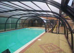 Galaxy Fixed Arched Pool Enclosure Interior Grey 03