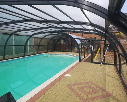 Galaxy Fixed Arched Pool Enclosure Interior Grey 03
