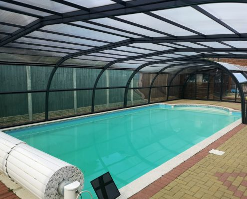 Galaxy Fixed Arched Pool Enclosure Interior Grey 04