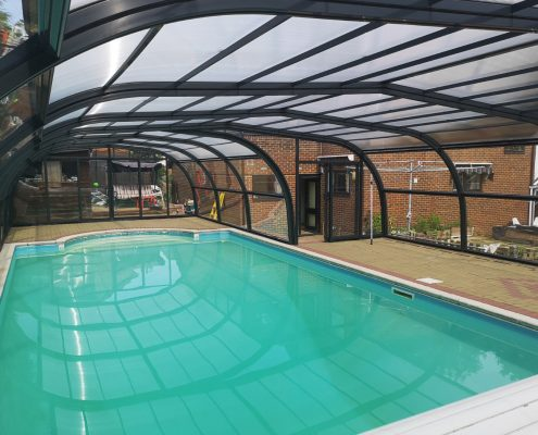 Galaxy Fixed Arched Pool Enclosure Interior Grey 05