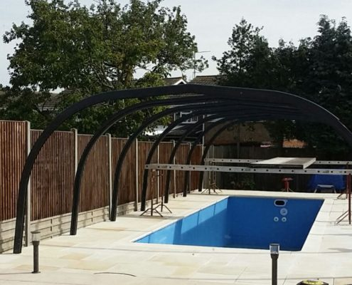 Galaxy Fixed Pool Enclosure Installation Mr Rogers 02