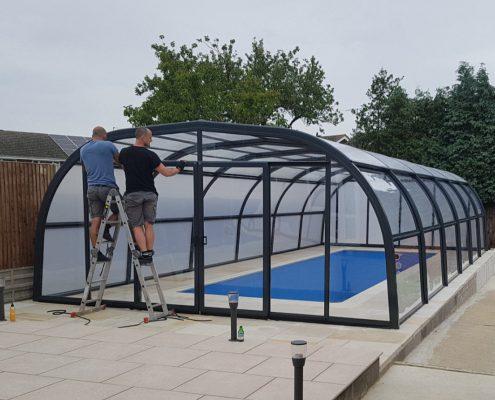 Galaxy Fixed Pool Enclosure Installation Mr Rogers 04