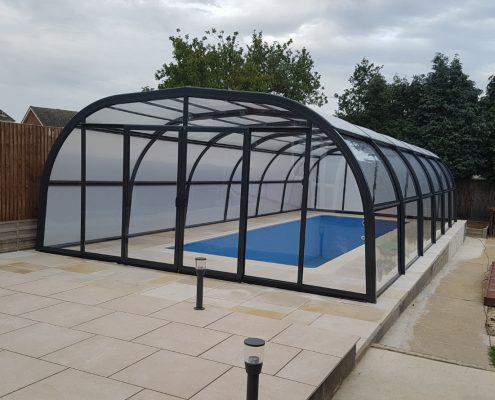 Galaxy Fixed Pool Enclosure Installation Mr Rogers 05