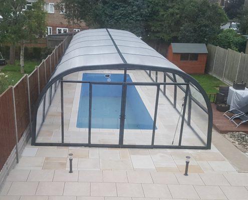 Galaxy Fixed Pool Enclosure Installation Mr Rogers 06