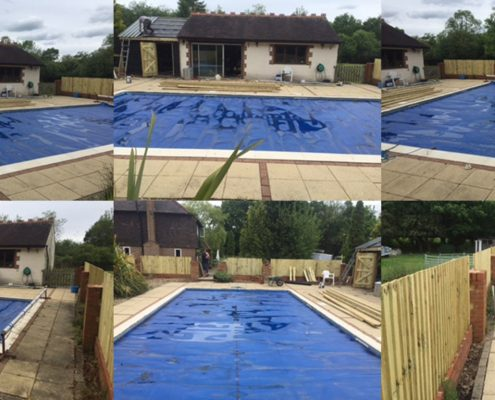 Galaxy Fixed Swimming Pool Enclosure Project Denyers Site Before Installation