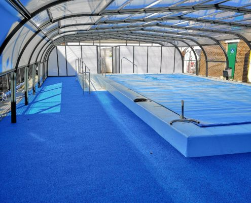 Galaxy High Fixed Pool Enclosure For School