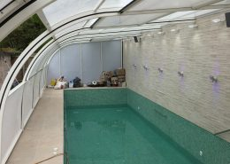 Galaxy Lean To Pool Enclosure In White