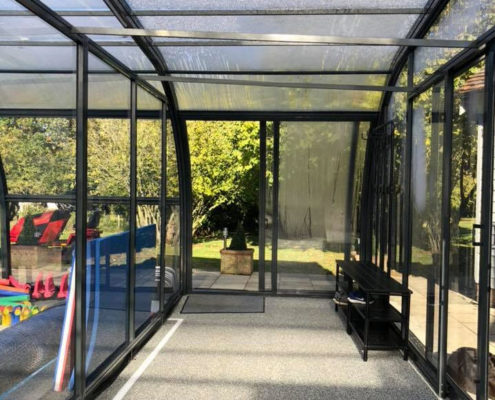 Galaxy Pool Enclosure Changing Rooms For Swimming SchooL