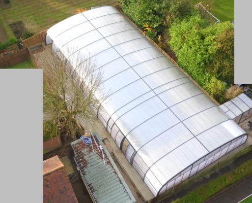 Galaxy Pool Enclosure For Thorpe House School Aerial View