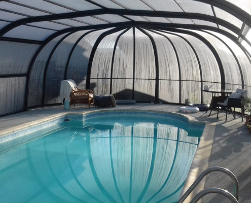 Galaxy Pool Enclosure Interior Showing IRIS End