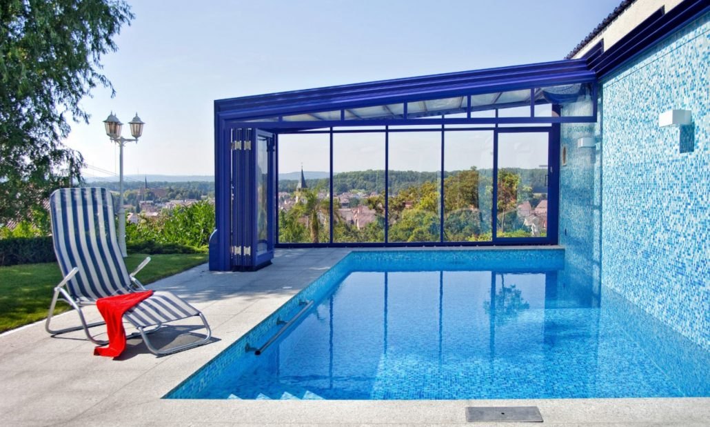 Create a swimming pool conservatory with a lean to - Outdoor swimming pool enclosures uk ...