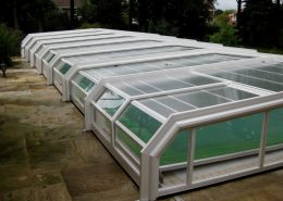 Low 5 Angle Telecsopic Pool Enclosure White 03