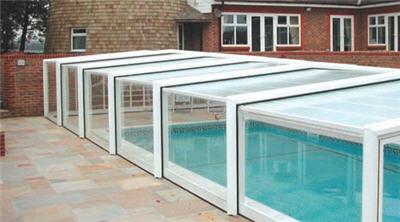 Telescopic Sliding Retractable Swimming Pool Enclosures