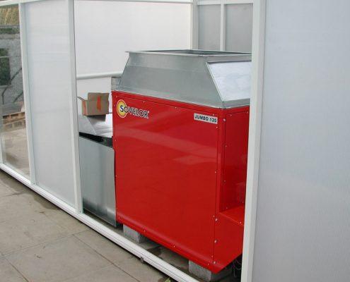 Pool Enclosure Air Heating Unit
