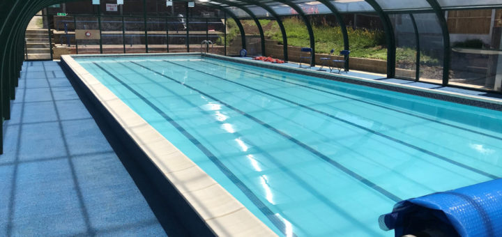 Rayleigh School Pool Enclosure With Roll Out Pool Cover by Swimex 01