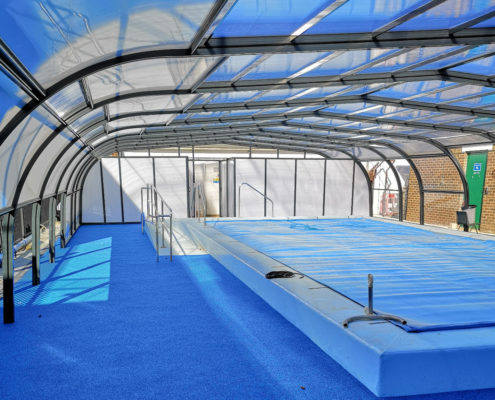 Royal Park School Pool Enclosure with pool cover by Swimex 01