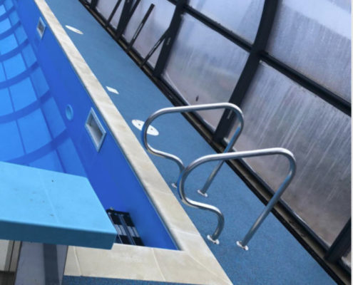 Rubber Flooring Fitted By Swimex At Cochester Girls School Swimming Pool