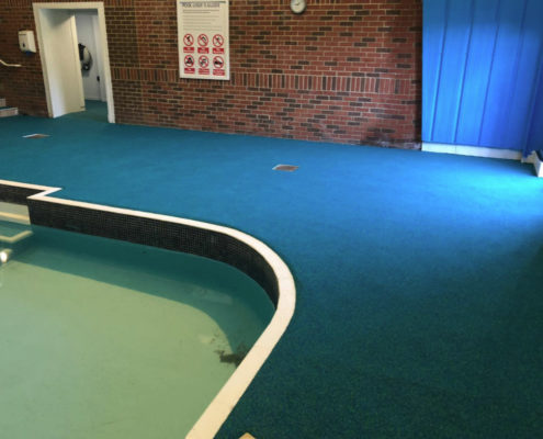 Rubber Flooring Fitted By Swimex At Lower Hyde Holiday Park Swimming Pool