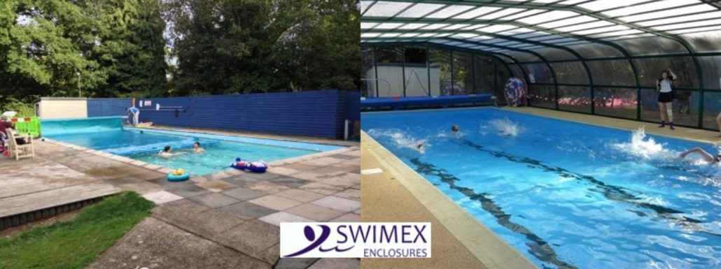 Swimming pool enclosure before and after gallery swimex - How long after pool shock before swim ...
