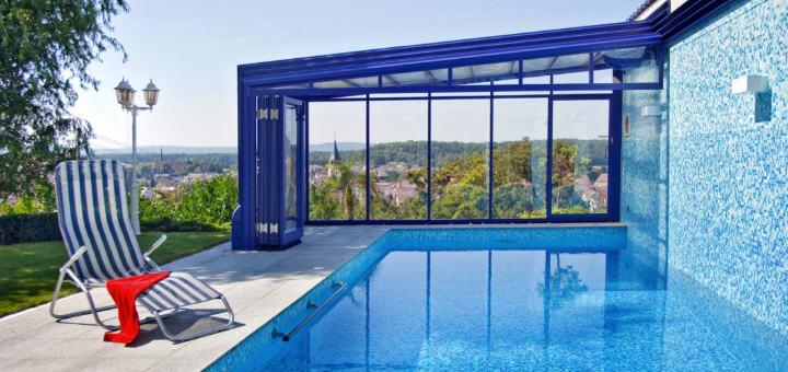 Telescopic Sliding Retractable Swimming Pool Enclosures Swimex Over 1000 Uk Pool Swimming Pool Enclosures Installed