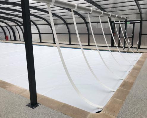 Thorpe House School Pool enclosure pool cover by Swimex